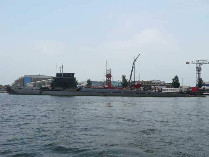 Zulu Class Submarine B-80 docked in the Amsterdam harbour