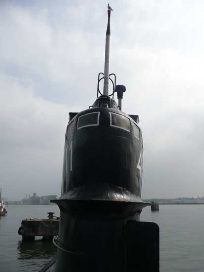 Front of the sail of the Soviet B-80 Tango class submarine
