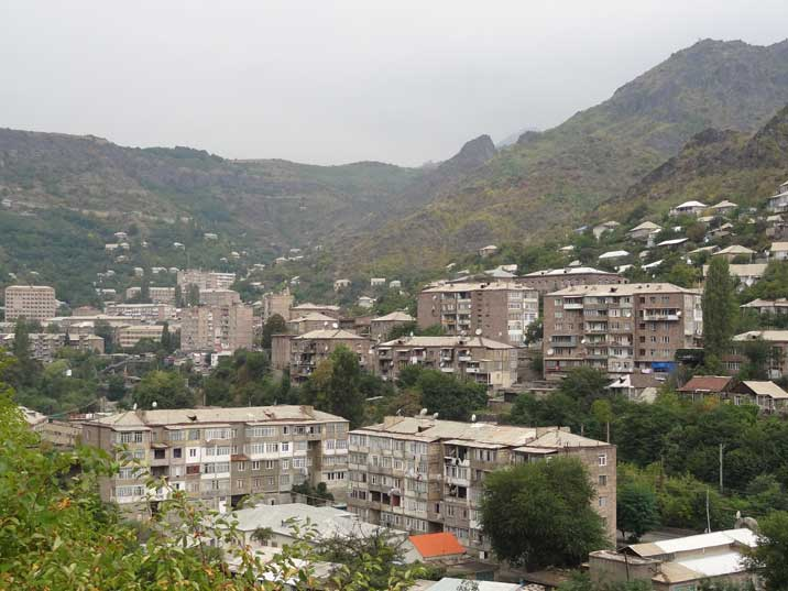 Soviet era residential buildings in the town of Alaverdi, an important industrial centre close to the Georgian border