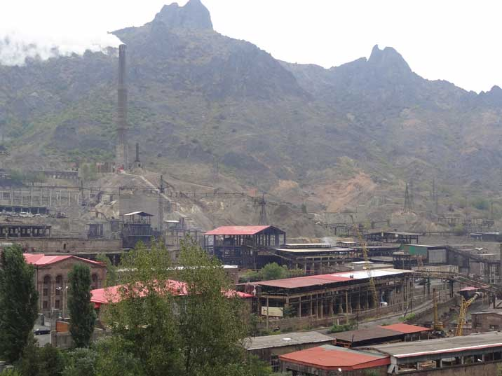 The giant Soviet era Alaverdi Copper Factory is now one of the main industrial complexes in Armenia