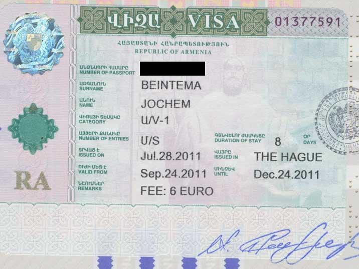 A Visa for Azerbaijan can be obtained on the border, arranging it at home will save time when entering Armenia
