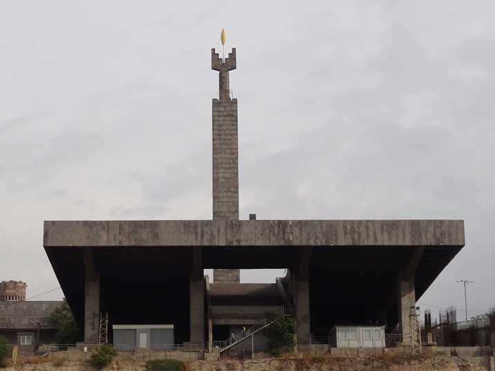 The Monument dedicated to the 50th Anniversary of Soviet Armenia on the top of the Yerevan Cascade