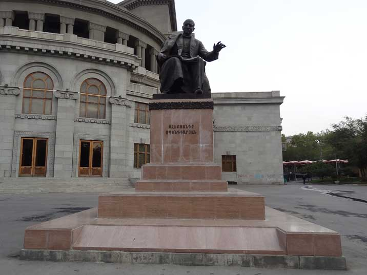 Statue for Armenian composer, Alexander Spendiaryan founder of Armenian national symphonic music