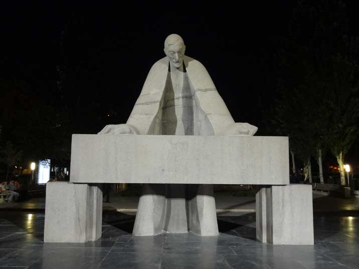 Statue for Armenian architect Alexander Tamanian who designed many building in Yerevan during the 1920s and 1930s