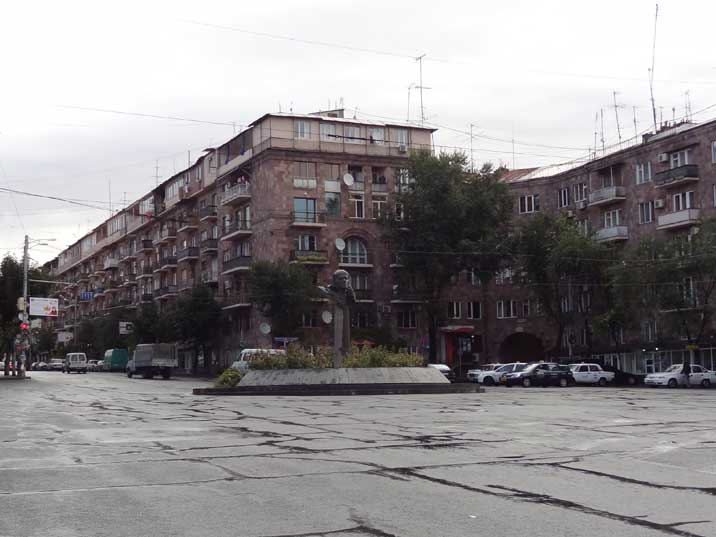 Square in Yerevan named after Andrei Sakharov who had an Armenian wife supported the Armenian case in the USSR