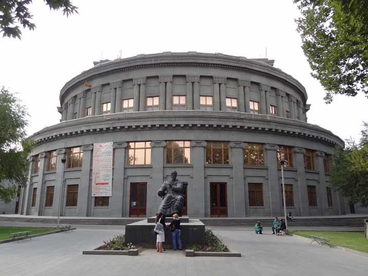 Statue for Soviet Armenian composer Aram Khachaturian who was a deputy in the fifth Supreme Soviet of the Soviet Union