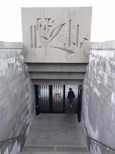 Entrance to the Armenian Genocide Museum that opened in 1995, commemorating the eightieth anniversary of the Genocide