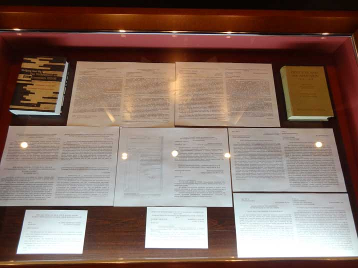 Display of some of the document that the Armenian Genocide Museum possesses proving that the Turks committed genocide