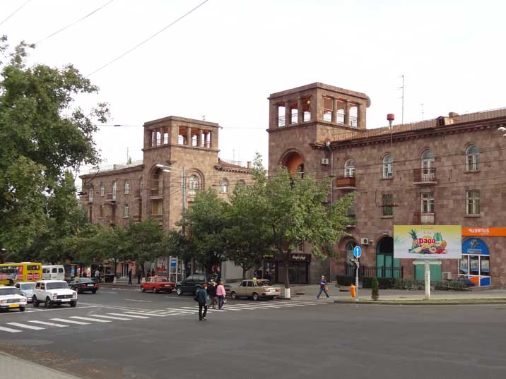 1950s socialist realist residential buildings on Marshal Baghramian Avenue, one of the main streets of Yerevan