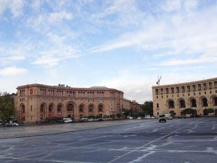 Hotel Armenia on Republic Square was the most luxurious hotel for the party bosses in Yerevan during Soviet times