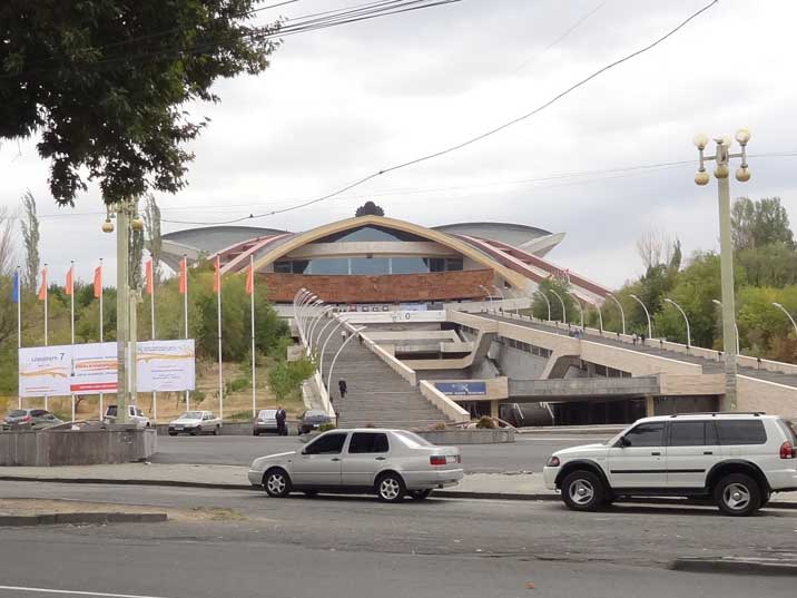 The Karen Demirchyan Sports and Concerts Complex is a giant Soviet era sports complex that was constructed in 1983