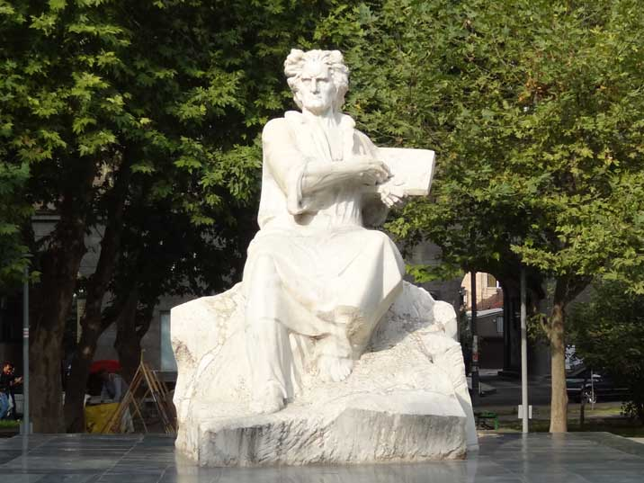 Statue for Armenian painter Martiros Saryan who was a member of the Supreme Soviet and received three Lenin Orders
