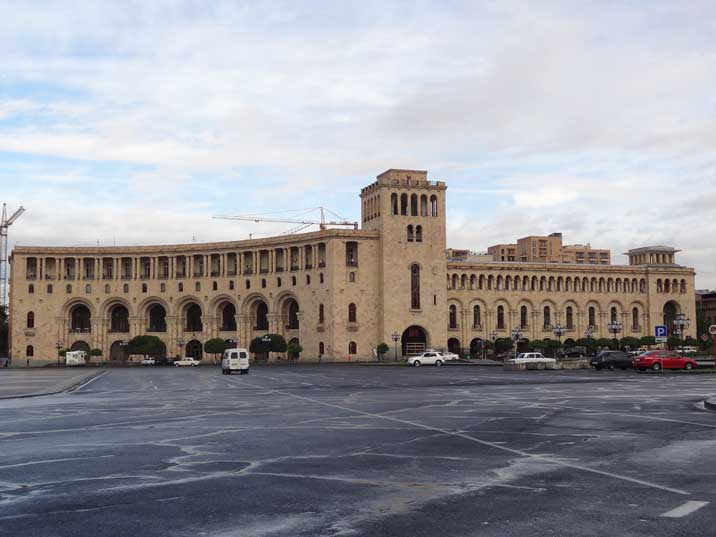 The building of the Foreign Affairs and Energy ministries on Republic Square the administrative centre of Yerevan