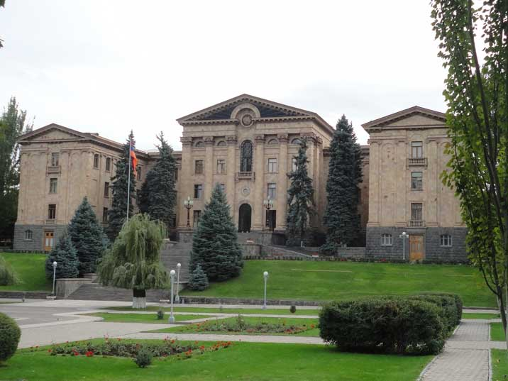 The building for the Central Committee of the Communist Party of Armenia now the National Assembly from 1950