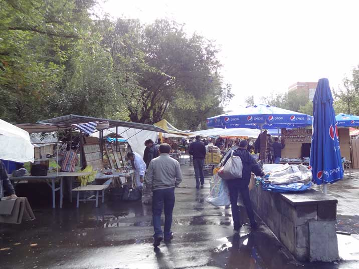 The Yerevan Vernissage Market near Republic Square is a great place to find Soviet era photo books and postcards