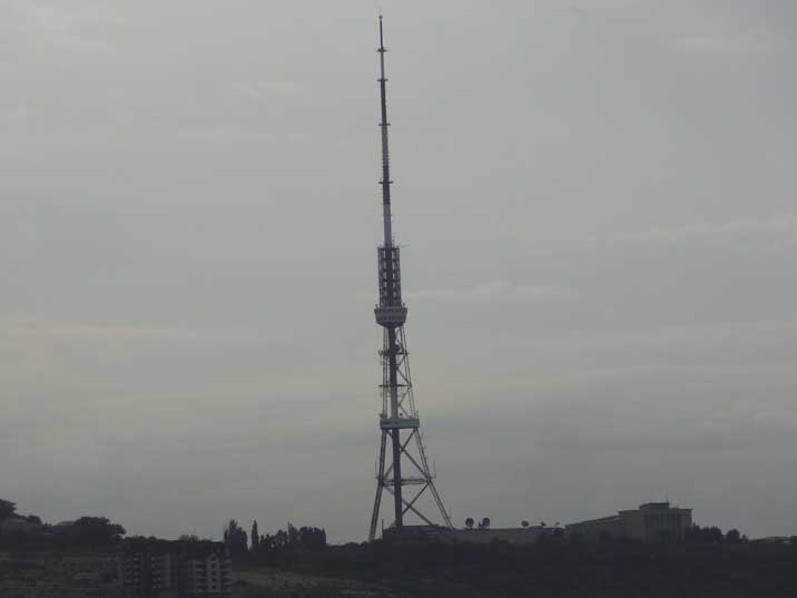 Yerevan TV Tower built from 1974 to 1977 allowed the Yerevan citizens to receive Moscow Central television
