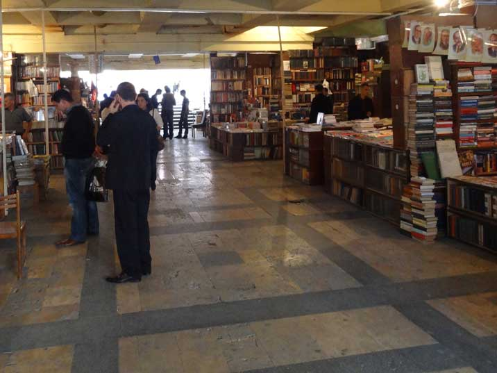 The book market located in an underground passageway under Abovyan Street is a great place to buy Soviet era books