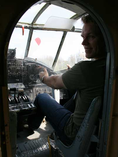 Comtourist pilot Jochem is ready to fly this vintage Soviet beauty