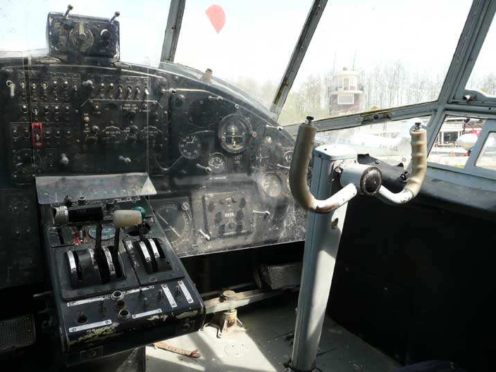 Co-pilot position in the cockpit of the Antonov An-2 at Aviodrome