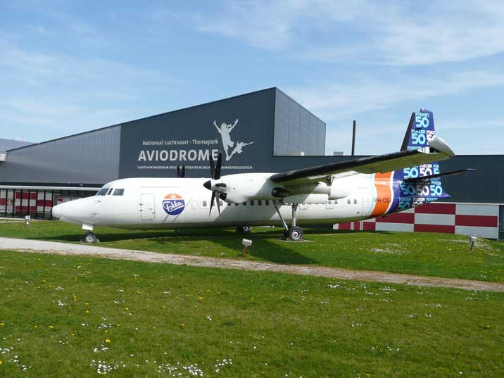 Entrance of Aviodrome aviation museum in Lelystad The Netherlands
