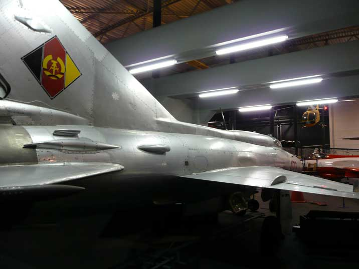 This MiG-21 was build in 1968 for the East German Air Force