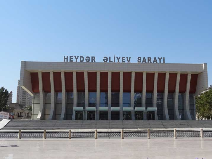 Heydar Aliyev Palace, called Lenin Palace during the Soviet period is the main music venue of Baku, seating 2158 people