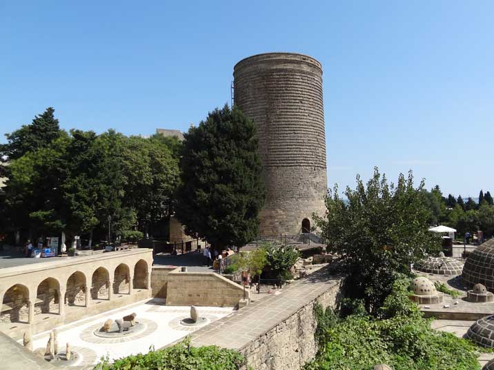 The Maiden Tower is a 12th century building with 4 meter thick walls and was probably billed as lookout point and