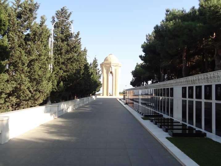 Graves of Azeri who died during Black January in 1990 when the Soviet army repressed an uprise for independence