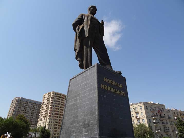 The Narimanov Statue was erected by Heydar Aliyev in 1970, then the Secretary of the Azerbaijan SSR Central Committee