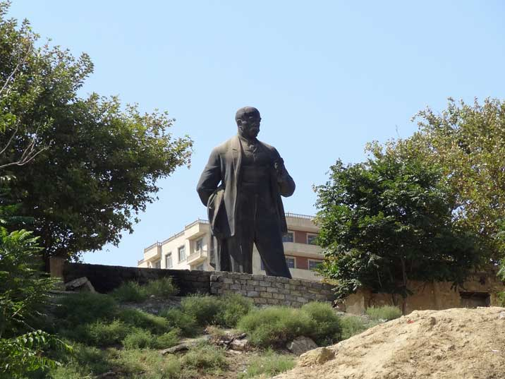 The statue of Narimanov is of the only remaining Soviet monuments that was not brought down after Azeri independence