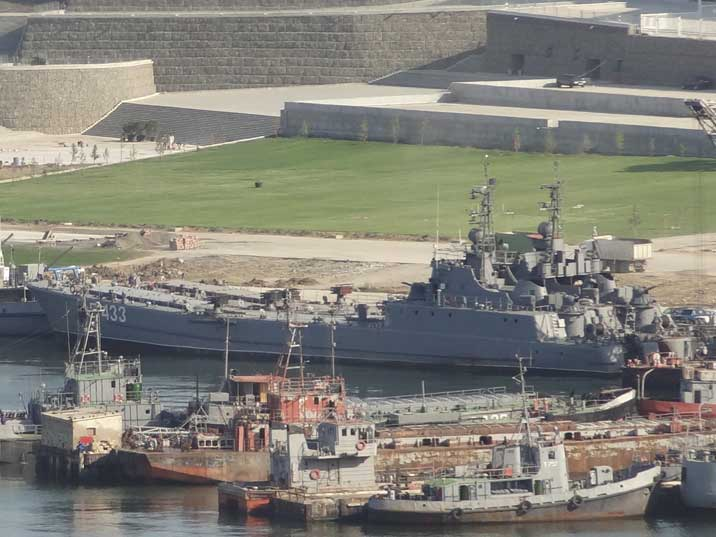 Polnocny class landing ship (project 771) of the Azeri navy that was build in Gdansk during the 1980s
