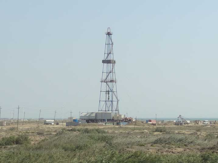One of many pump jacks that can be seen on the Oil Fields of Gobustan near the Caspian Sea