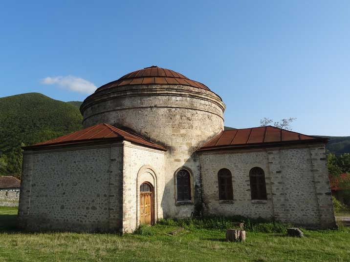 The Albanian Church of Sheki is housing the Museum of applied arts that seem to data back to Soviet times