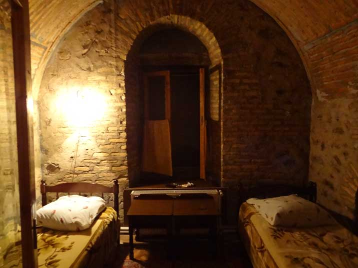 The rooms in the Sheki Caravanserai are simple, the feeling of sleeping in such an ancient place is a great experience