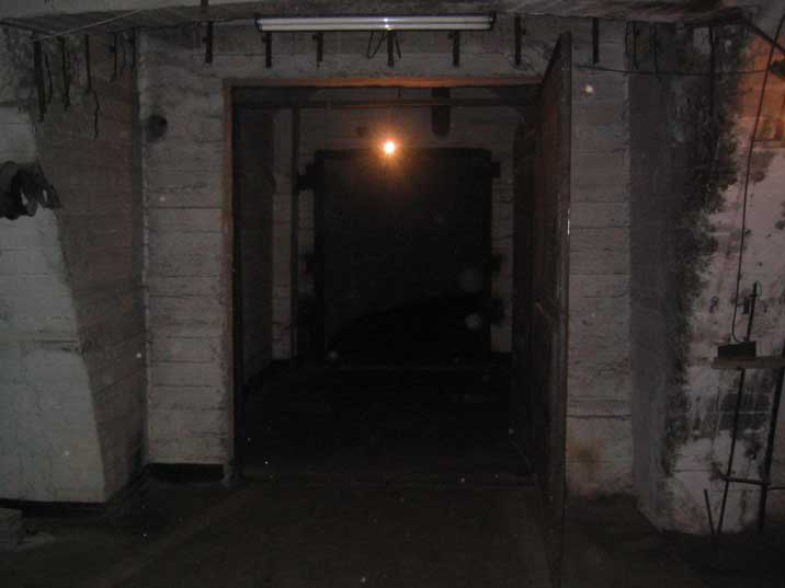 Entrance to a tunnel inside the Balaklava submarine base