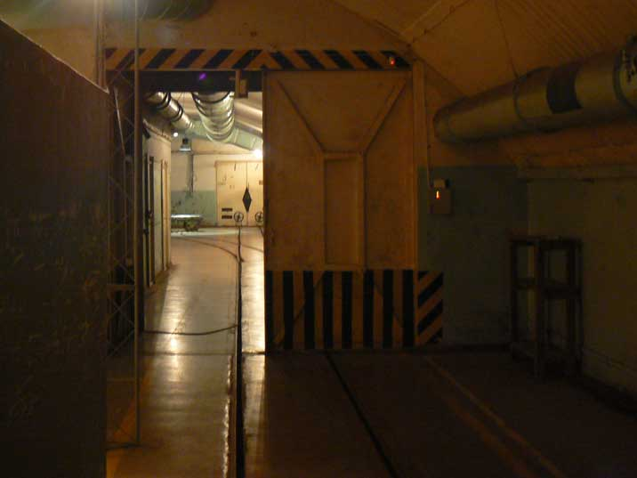 Entrance to the munitions room, were nuclear weapons were stored