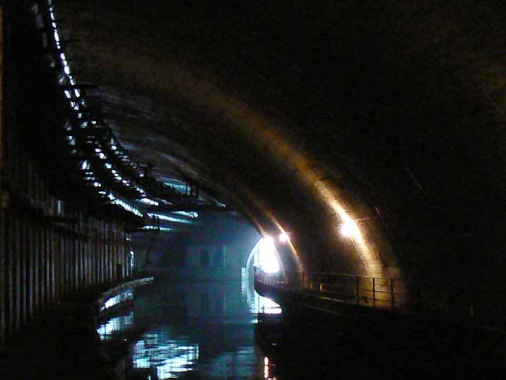 Exit of the underground water tunnel leading to the Balaklava Bay