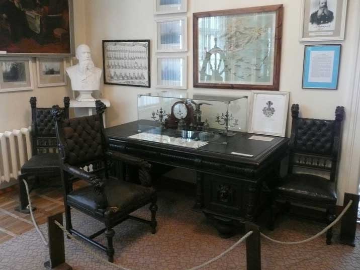 Desk that once belonged to the Admiral of the Baltic Fleet