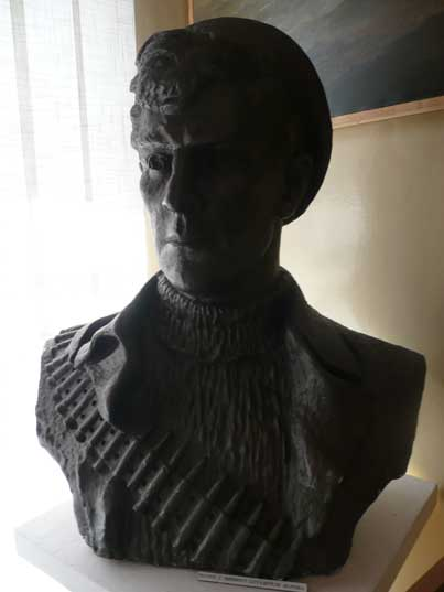 Bust of a Red Army marine in the Baltic Fleet Museum in Baltiysk