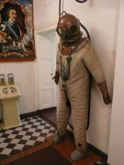 Early 20th century diving suit from the Imperial Russian Navy