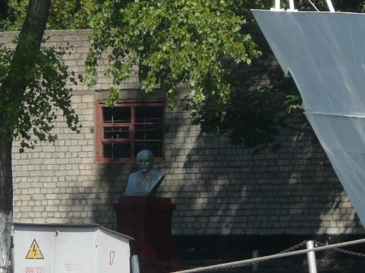 Lenin bust in the Baltiysk harbour of the Russian Baltic Fleet