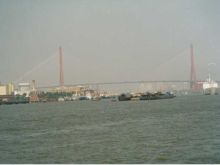The Nanpu Bridge which connects the Puxi area with Pudong
