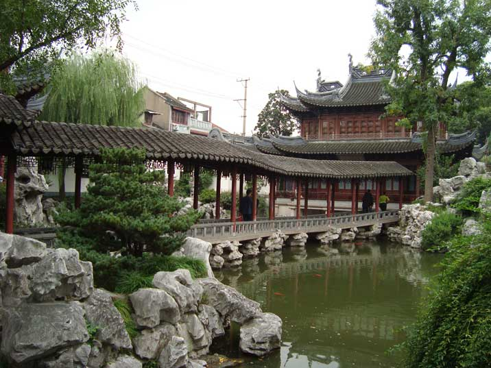 Beautiful Yuyuan Gardens beside the City God Temple in the northeast of the Old City of Shanghai dating back to 1559