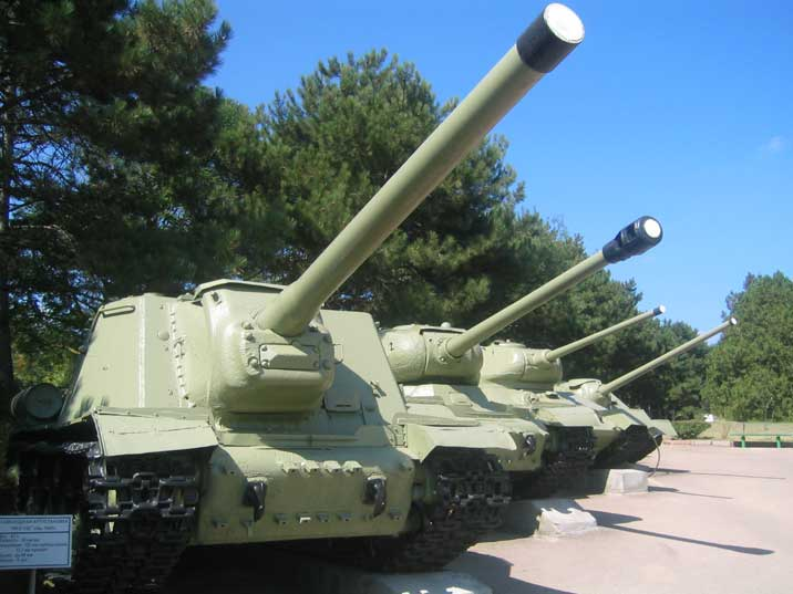 ISU-122 Soviet self-propelled gun used during World War II