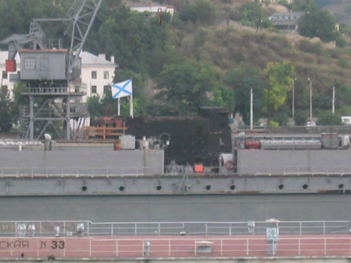 Russian B-380 Tango class submarine in a Sevastopol dry-dock