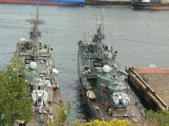 Grisha class Anti Submarine Corvette's in Yuzhnaya bay