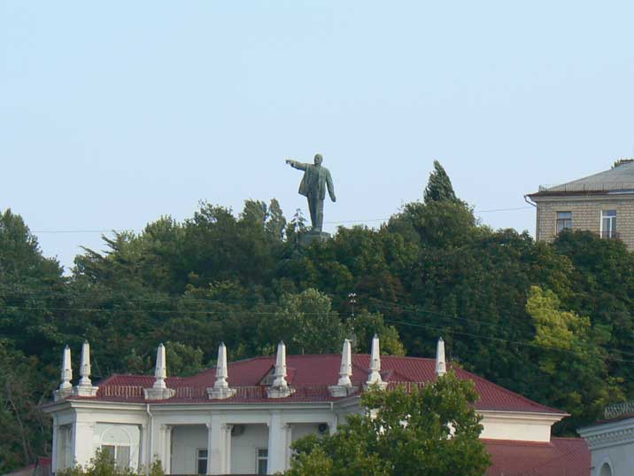 Lenin looking towards the Black Sea from a hill in Sevastopol