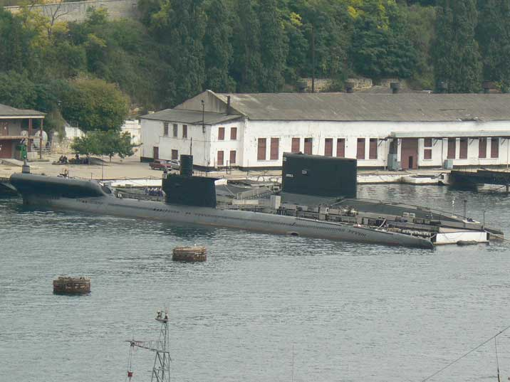 Modified Romeo Class Submarine PZS-50 at Sevastopol harbour