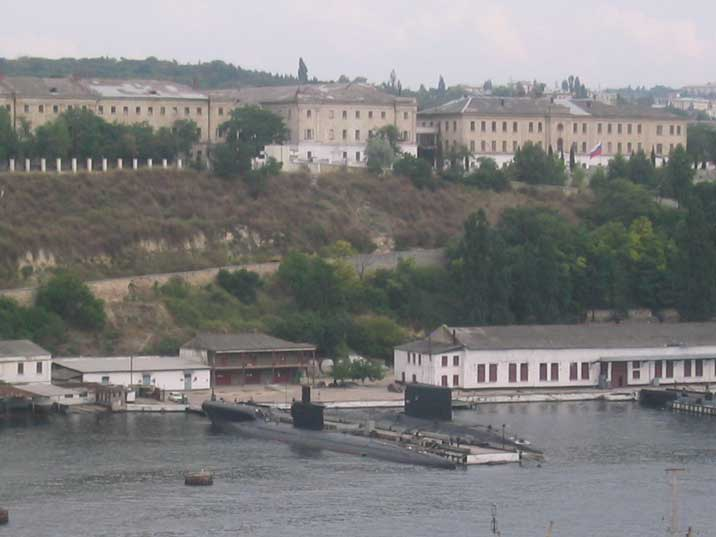 Submarine base of the Russian Black Sea fleet in Sevastopol