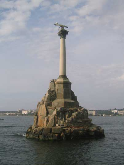 The monument to Scuttled ships Sevastopol's most famous landmark